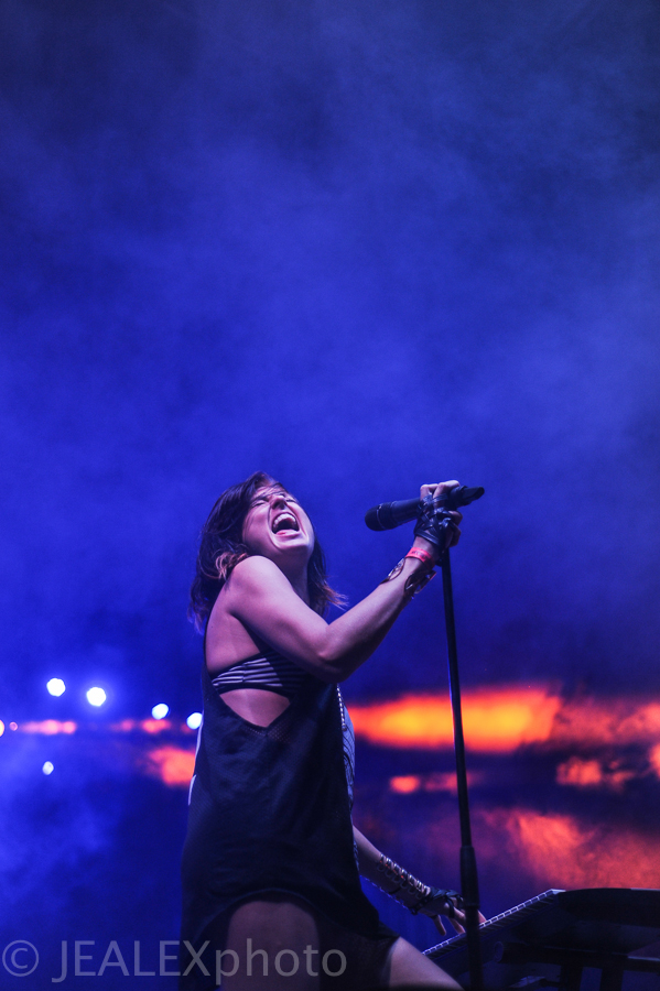 Phantogram Performs at Float Fest in Martindale, Texas on Sunday, August 30, 2015.