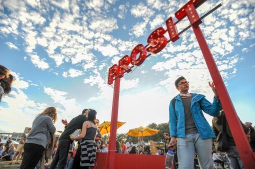 The atmosphere at Fun Fun Fun Fest in Austin, TX on Sunday, November 8.